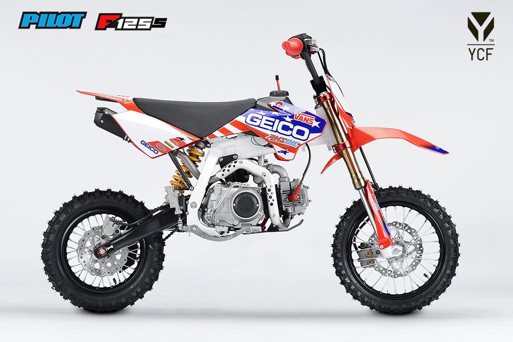pitbike ycf pilot f125s geico limited moto mucha. Black Bedroom Furniture Sets. Home Design Ideas